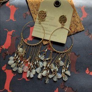 NWT Anthropologie Gold Resin Tassels Earrings